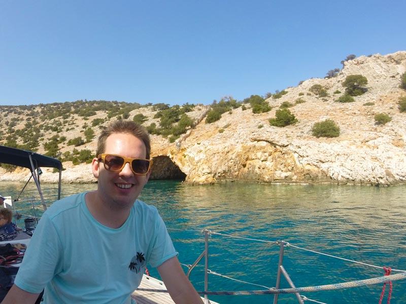 Griechenland Naxos Kykladen Segeltour Bootsausflug