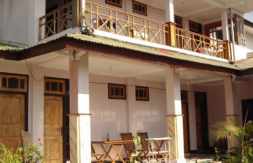 Kleines Hotel in Bajawa auf Flores.