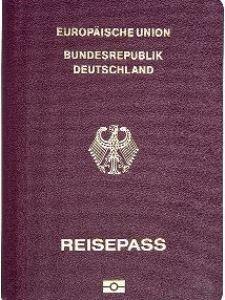 Reisepass eines deutschen Staatsbürgers