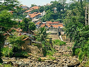 Die Stadt Bogor in West-Java.