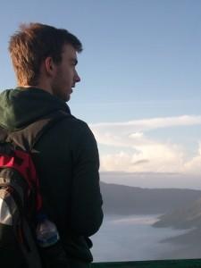 Ausblick auf die Vulkanlandschaft des Bromo.