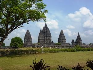 Der hinduistische Prambanan-Tempel.
