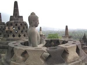 Das UNESCO-Weltkulturerbe Borobudur.