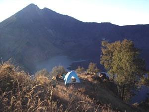 Zelt auf dem Rinjani.
