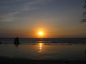 Sonnenuntergang auf Lombok.
