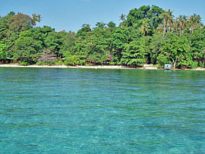 Azurblaues Meer auf Bunaken.