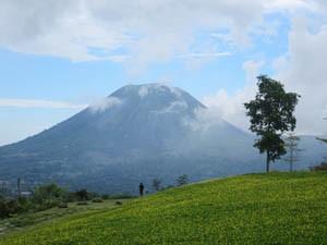 Tomohon Vulkan auf Sulawesi.
