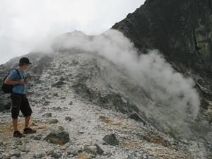 Rauch am Vulkan Sibayak.