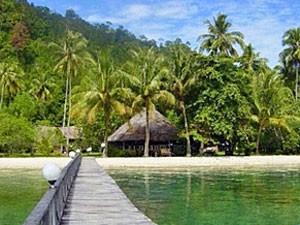 Hotel am schönen Strand von Cubadak.
