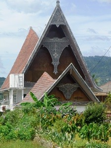 Batak Haus im kleinen Dorf auf auf Samosir.