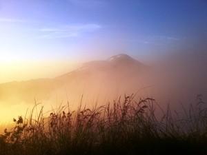 Vulkanlandschaft am Vulkan Batur