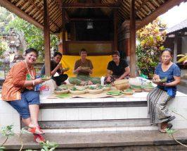 Zuhause bei einer balinesischen Familie