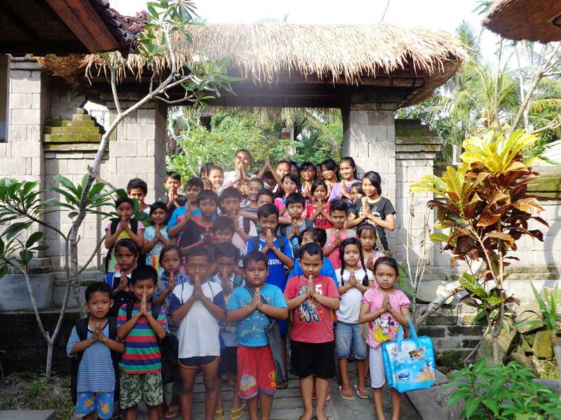 Kinder in der Yayasan Widya Guna Foundation
