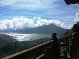 Ausblick auf dem Lake Batur