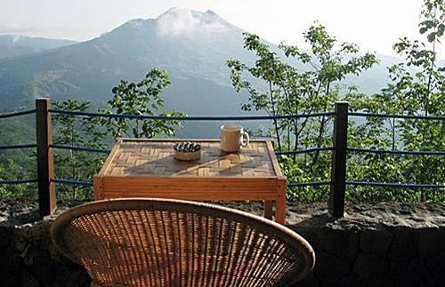 Terrasse bei Ihrem Hotel in Kintamani