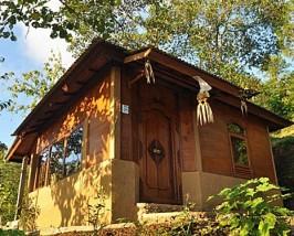Aussenansicht der Cottage in Munduk