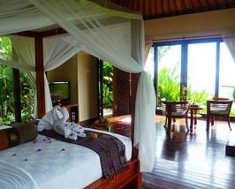 Zimmer im Komforthotel in Munduk