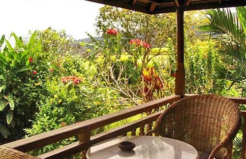 Balkon mit herrlicher Sicht in den Garten