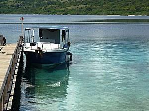 Boot auf dem Meer vor Pemuteran