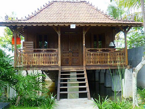 Aussenansicht vom Bungalow in Ubud