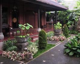 Aussenansicht der Unterkunft in Ubud