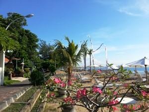 Die Strandpromende in Sanur - Zwei Wochen Bali