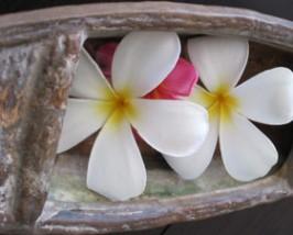 Blumen während des Spa Besuches