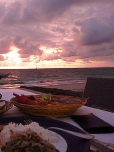 Seafood-Dinner am Strand von Jimbaran.