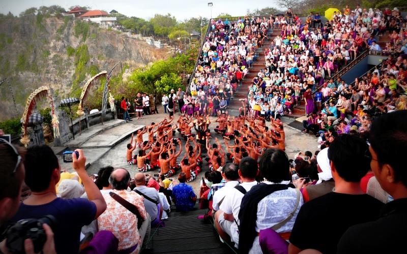 Tempelzeremonie im Süden Balis