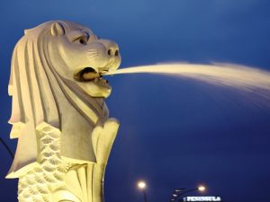 Merlionbrunnen in Singapur