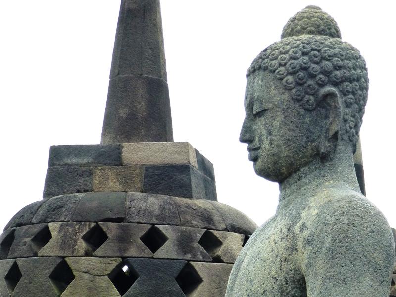 Der buddhistische Tempel Borobudur auf Java.