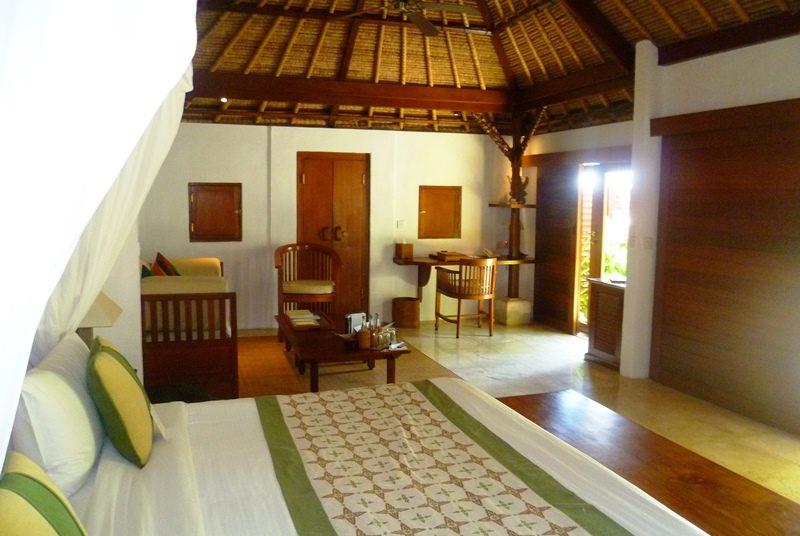 Schlafzimmer im Strandresort in Jimbaran auf Bali