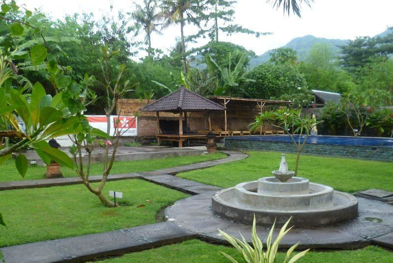 Garten im Homestay in Pemuteran auf Bali