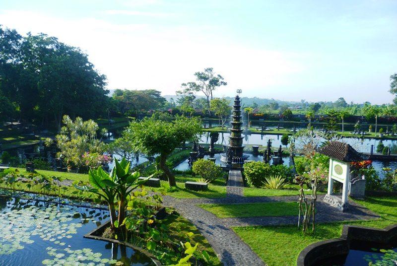 Das Gelände des Wasserpalastes in Tirtagangga