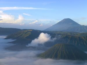 Der Bromo Vulkan auf Java in Indonesien.