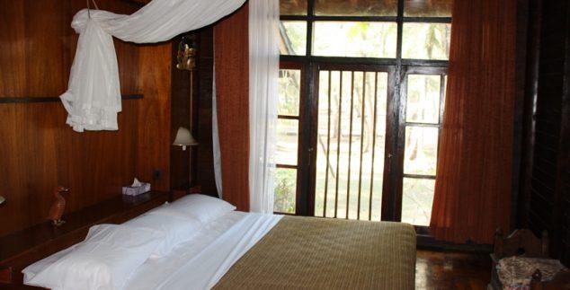 Das Zimmer in unserer Unterkunft auf Gili Meno.