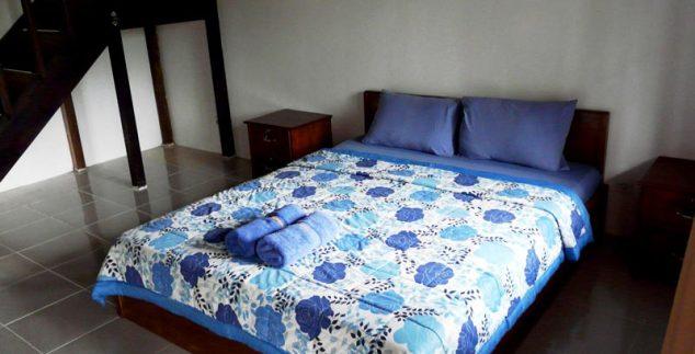 Zimmer unserer Standardunterkunft in Tetebatu