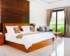 Zimmer mit Blick auf die Reisfelder