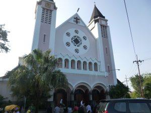 Eine Kirche in Malang auf Java.