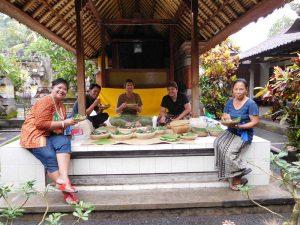 Dinner bei einer einheimischen Familie in Ubud auf Bali.