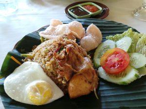 Eine typisch-indonesische Mahlzeit.