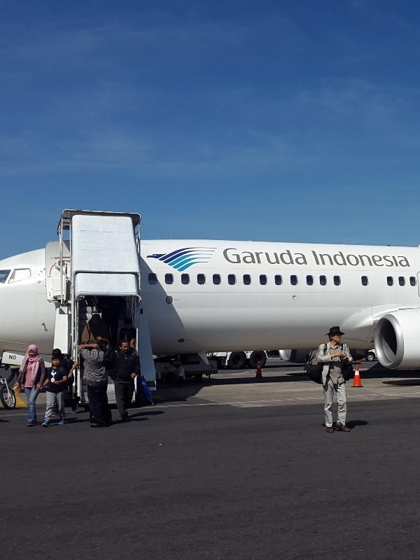 Ein Flugzeug der Garuda Indonesia.