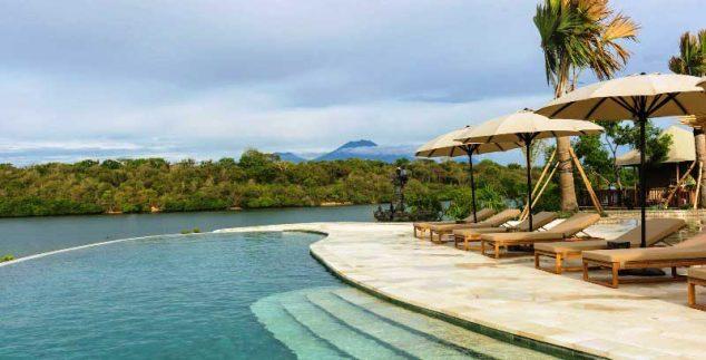 Entspannen in tropischer Umgebung