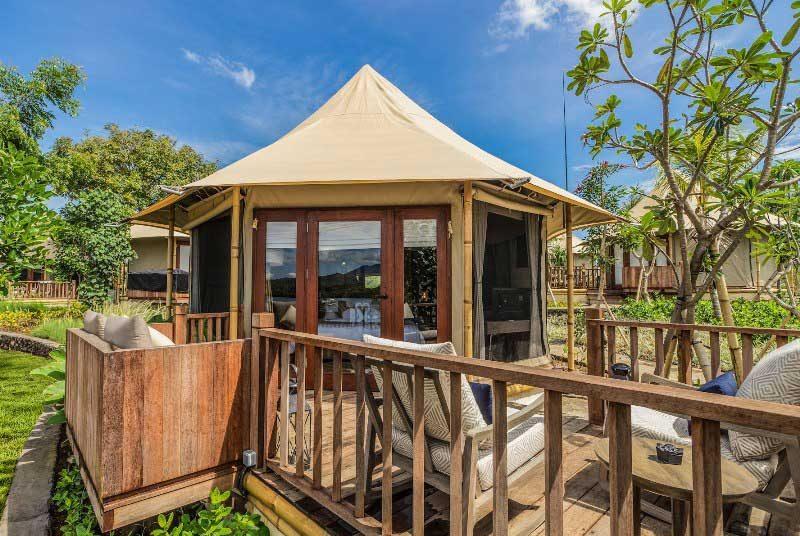 Glamping Bali - Eines der komfortablen Safarizelte