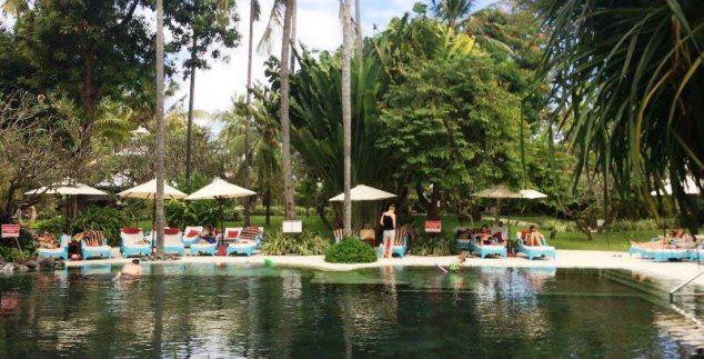 Pool in Gartenanlage