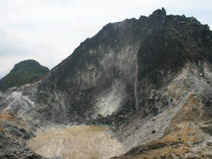 Der Sibayak Vulkan auf Sumatra.