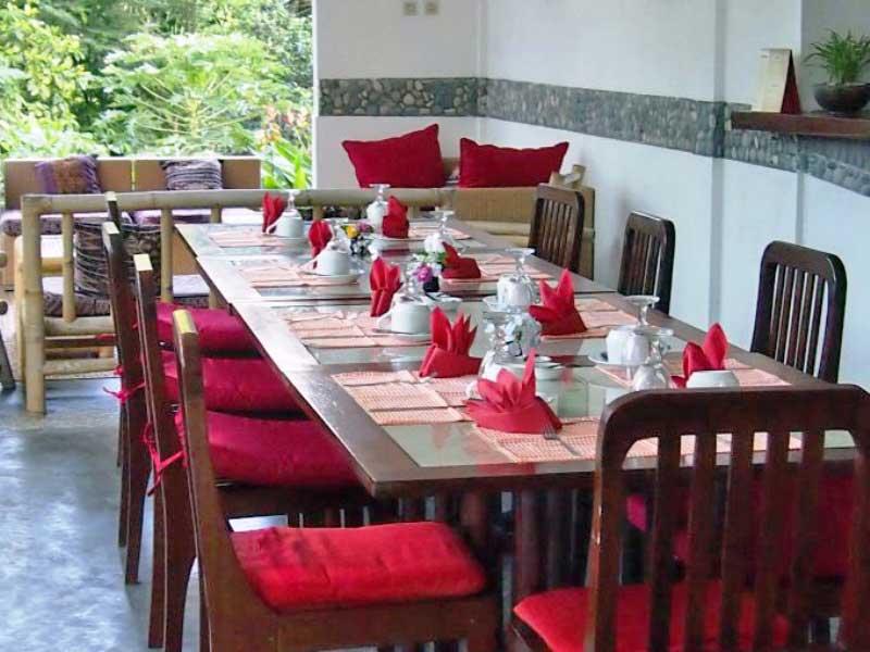 Restaurant einer Komfortoption bei Kelimutu