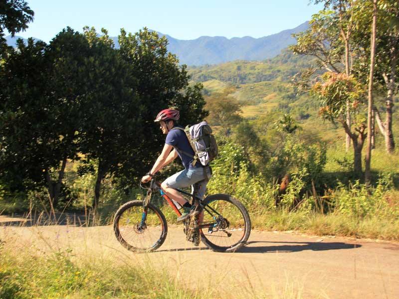 Mountainbiketour in der Gegend von Ruteng