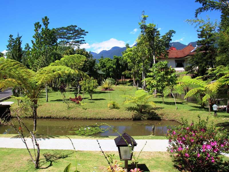 Gartenanlage eines Hotels in Ruteng