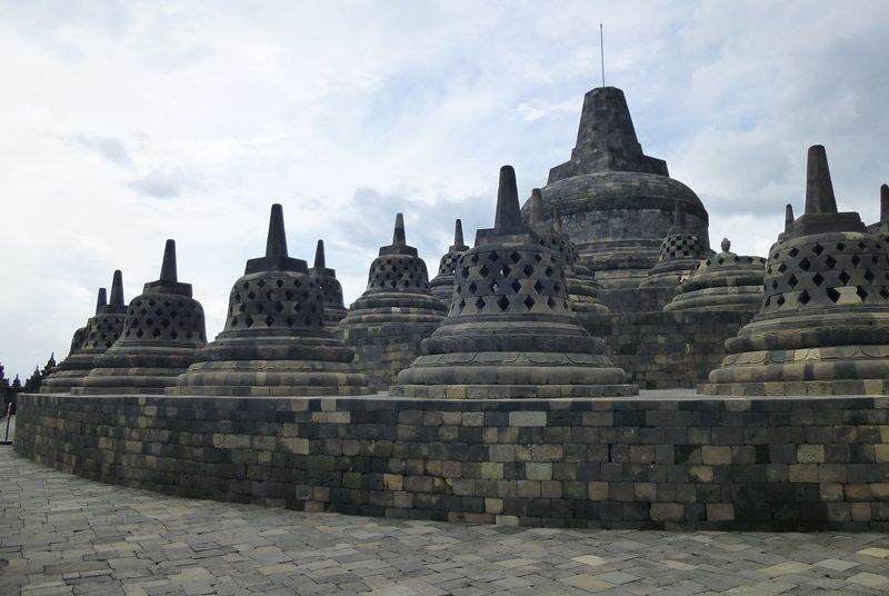 Der Borobudur Tempel auf der Insel Java.